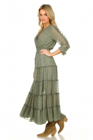Misa Los Angeles |  Maxi dress with ruffles Hayeda | green  | Picture 5