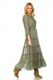 Misa Los Angeles |  Maxi dress with ruffles Hayeda | green  | Picture 4