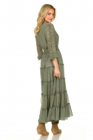 Misa Los Angeles |  Maxi dress with ruffles Hayeda | green  | Picture 6
