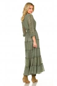 Misa Los Angeles | Maxi jurk met ruches Hadeya | groen   | Afbeelding 6