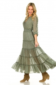 Misa Los Angeles |  Maxi dress with ruffles Hayeda | green  | Picture 2