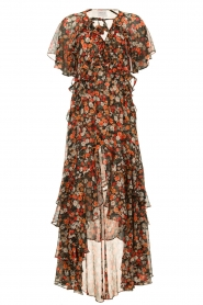 Misa Los Angeles |  Maxi dress with volant Katarina | multi  | Picture 1
