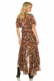 Misa Los Angeles |  Maxi dress with volant Katarina | multi  | Picture 5