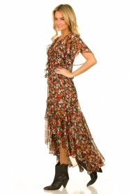 Misa Los Angeles |  Maxi dress with volant Katarina | multi  | Picture 4