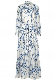 Misa Los Angeles |  Floral maxi dress Evangeline | blue  | Picture 1