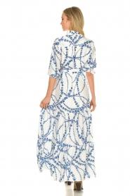 Misa Los Angeles |  Floral maxi dress Evangeline | blue  | Picture 5