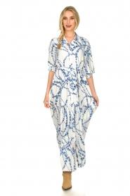 Misa Los Angeles |  Floral maxi dress Evangeline | blue  | Picture 3