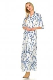 Misa Los Angeles |  Floral maxi dress Evangeline | blue  | Picture 6