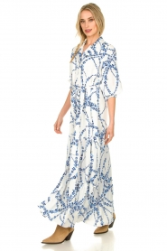 Misa Los Angeles |  Floral maxi dress Evangeline | blue  | Picture 4