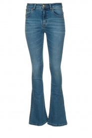 Lois Jeans |  L32 Flared high waist jeans Raval | blue  | Picture 1