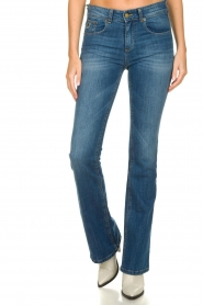 Lois Jeans |  L32 Flared high waist jeans Raval | blue  | Picture 3