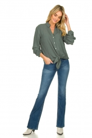 Lois Jeans |  L34 Flared high waisted jeans Raval | blue   | Picture 3
