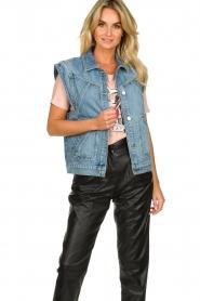 ba&sh |  Denim waistcoat Heaster | blue  | Picture 2