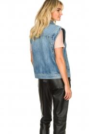ba&sh |  Denim waistcoat Heaster | blue  | Picture 6