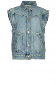 ba&sh |  Denim waistcoat Heaster | blue  | Picture 1