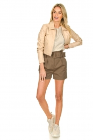 ba&sh |  Paperbag shorts Kook | taupe  | Picture 3