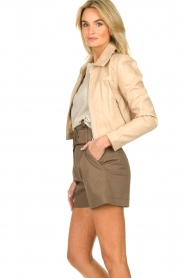 ba&sh |  Paperbag shorts Kook | taupe  | Picture 4