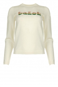 ba&sh |  Wool sweater with text Maxwell | naturel  | Picture 1