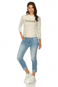 ba&sh |  Wool sweater with text Maxwell | naturel  | Picture 3