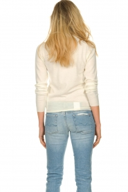 ba&sh |  Wool sweater with text Maxwell | naturel  | Picture 5