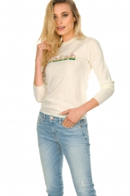 ba&sh    Wool sweater with text Maxwell   naturel    Picture 2