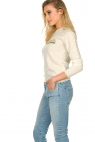 ba&sh |  Wool sweater with text Maxwell | naturel  | Picture 4