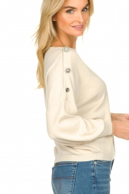 ba&sh |  Sweater with diamond buttons Bushy | naturel  | Picture 6