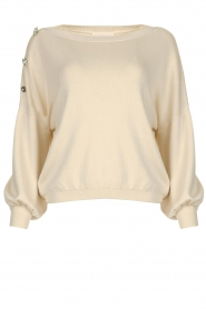 ba&sh |  Sweater with diamond buttons Bushy | naturel  | Picture 1