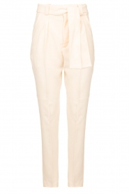 ba&sh |  Straight fit trousers Tiago | natural  | Picture 1