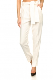 ba&sh |  Straight fit trousers Tiago | natural  | Picture 4