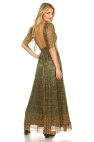 ba&sh |  Lurex maxi dress with print Perla | green  | Picture 6