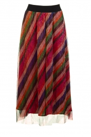 ba&sh |  Striped maxi skirt with lurex Midnight | pink  | Picture 1