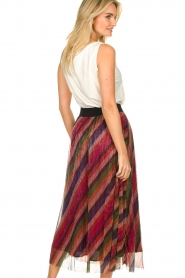 ba&sh |  Striped maxi skirt with lurex Midnight | pink  | Picture 5