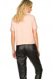 ba&sh | Katoenen T-shirt met opdruk Pink | roze   | Afbeelding 6