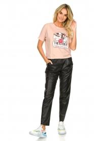 ba&sh | Katoenen T-shirt met opdruk Pink | roze   | Afbeelding 3