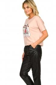 ba&sh | Katoenen T-shirt met opdruk Pink | roze   | Afbeelding 5