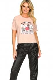 ba&sh | Katoenen T-shirt met opdruk Pink | roze   | Afbeelding 2