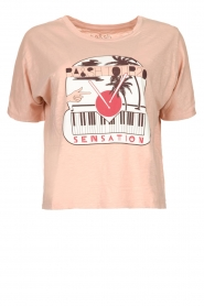 ba&sh |  Cotton T-shirt with print Pink   | Picture 1