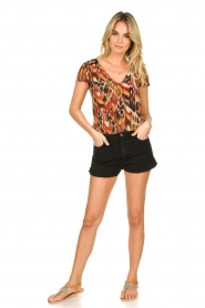 ba&sh |  Stretchy denim shorts Cluego | black  | Picture 3