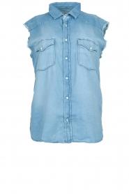 ba&sh |  Sleeveless denim blouse Drop | blue  | Picture 1