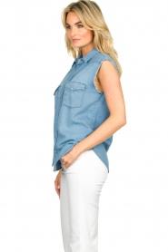 ba&sh |  Sleeveless denim blouse Drop | blue  | Picture 4
