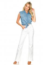 ba&sh |  Sleeveless denim blouse Drop | blue  | Picture 3