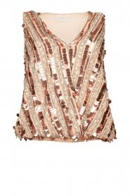Nenette |  Sequin blouse Fassia | pink  | Picture 1