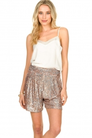 Nenette |  Sequin shorts Ercolana | pink  | Picture 4