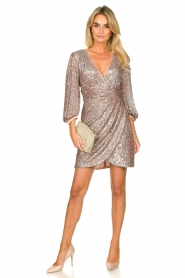 Nenette |  Sequin dress Ajar | nude   | Picture 3