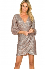Nenette |  Sequin dress Ajar | nude   | Picture 2