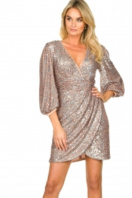 Nenette |  Sequin dress Ajar | nude   | Picture 4