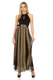Nenette |  Maxi dress Tobia | black  | Picture 2