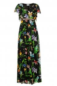 Nenette |  Floral maxi dress Audace | black  | Picture 1