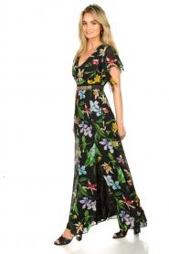 Nenette |  Floral maxi dress Audace | black  | Picture 4